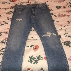 Never-been-worn 501 skinny Levi's jeans.